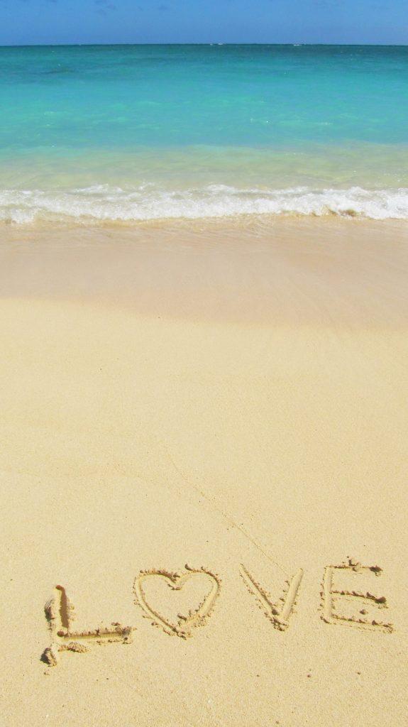 最強 恋愛成就 待ち受け ハワイビーチ