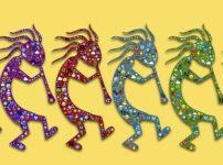 【ココペリ 待ち受け】幸せをはこぶ妖精さん♪あなたの誕生石カラ―でパワーUP【DL無料】