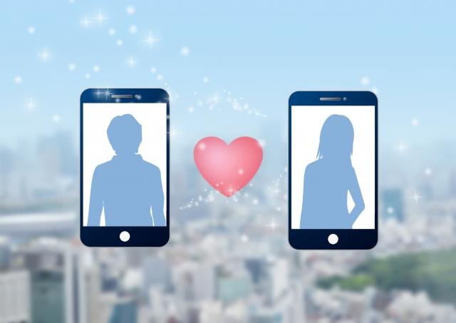 マッチングアプリのイメージ画像 スマホ2台